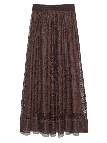 蝴蝶紋蕾絲長裙