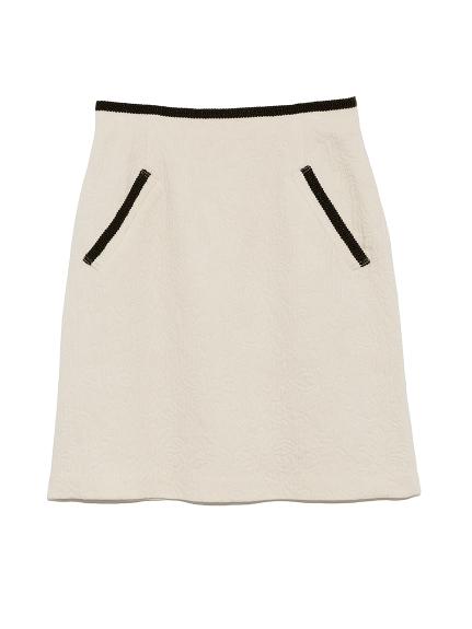配色鑲邊短裙