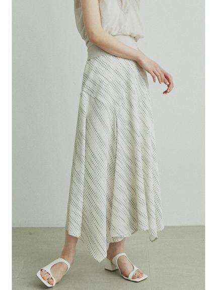 點點不規則下襬長裙