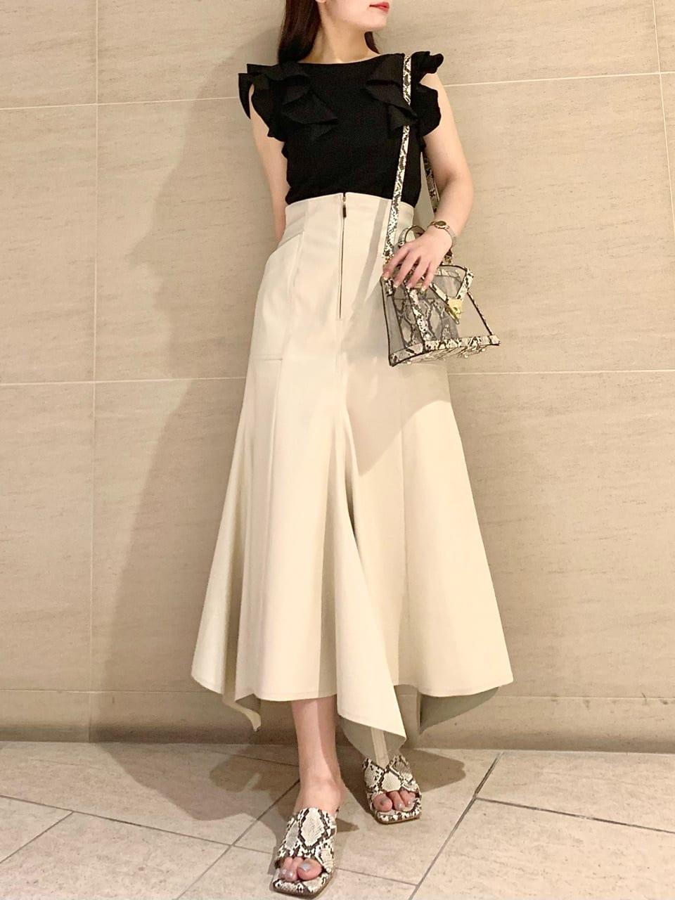 魚尾線條長裙