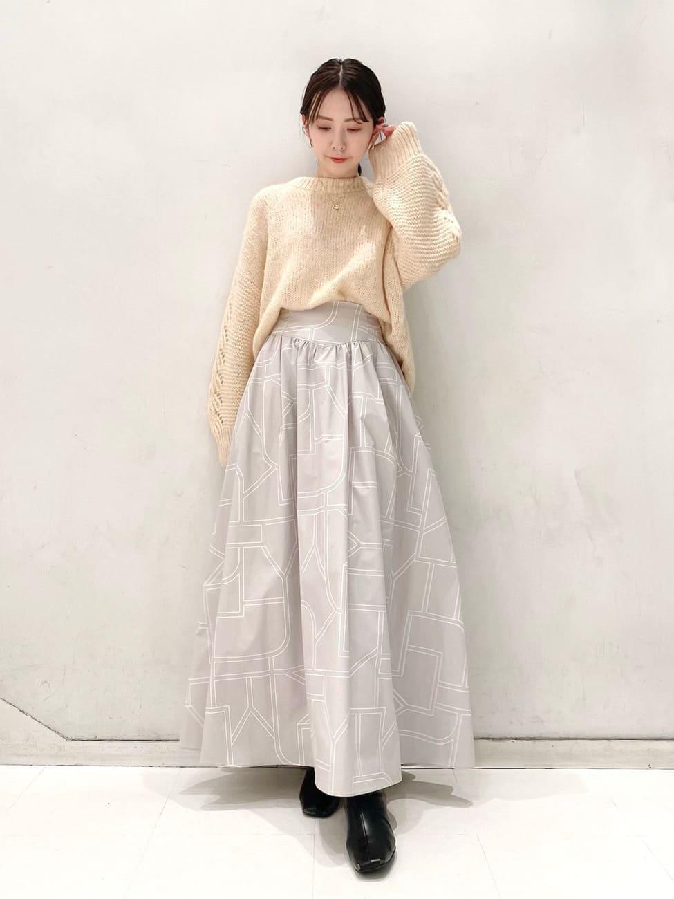 變形格紋長裙