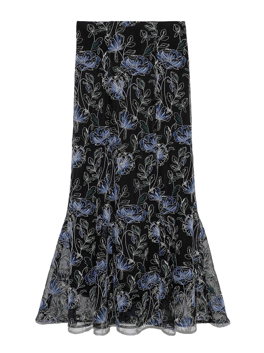花朵蕾絲長裙