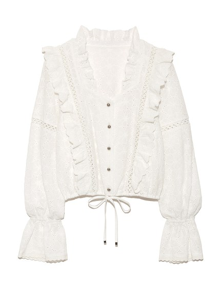 cotton刺繡造型上衣