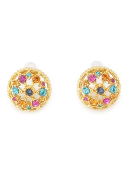 復古寶石造型耳環