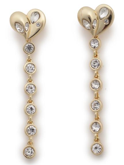 愛心珠寶長耳環