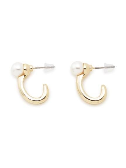 珍珠鑲飾耳環