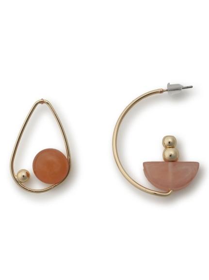 不對稱寶石耳環