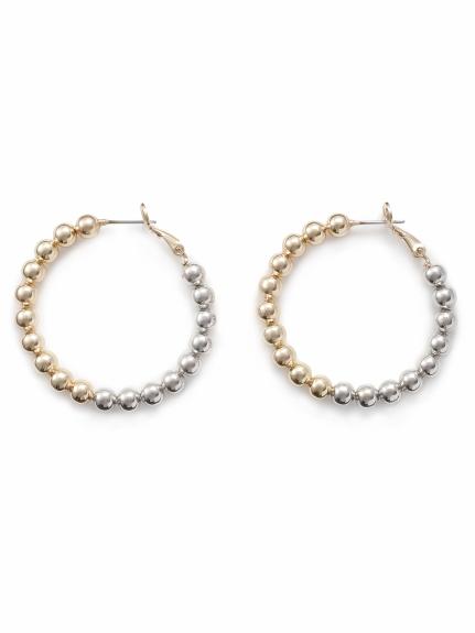 螺旋造型大圈耳環