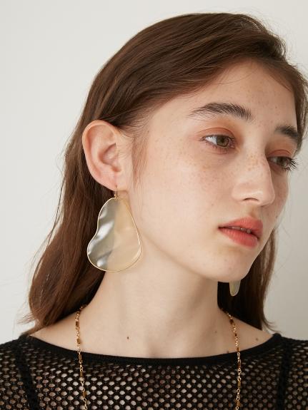 透明感不規則耳環