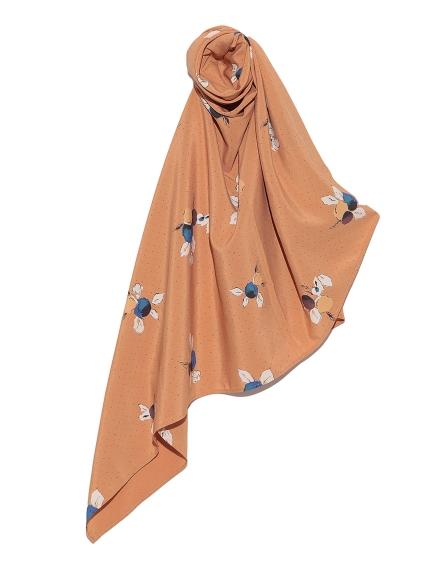 花卉點點造型絲巾