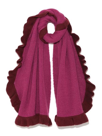 荷葉花邊針織圍巾