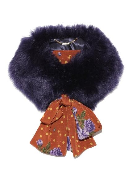 造型毛領圍巾