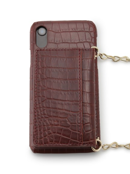 附卡夾鱷魚紋手機殼