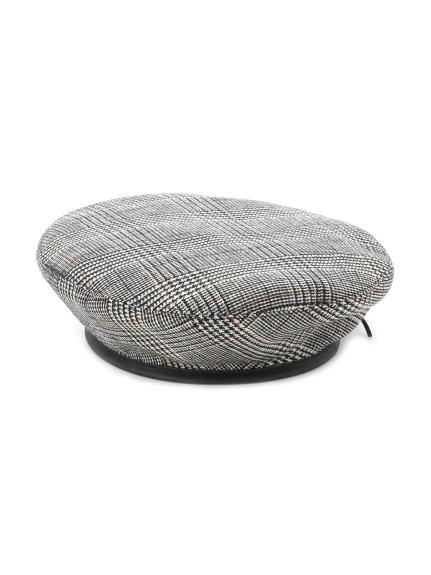 格紋造型貝蕾帽