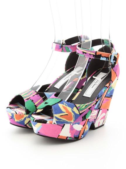 普普風魚口鞋粗跟涼鞋