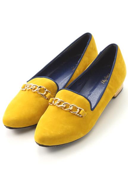 金鍊造型低跟樂福鞋