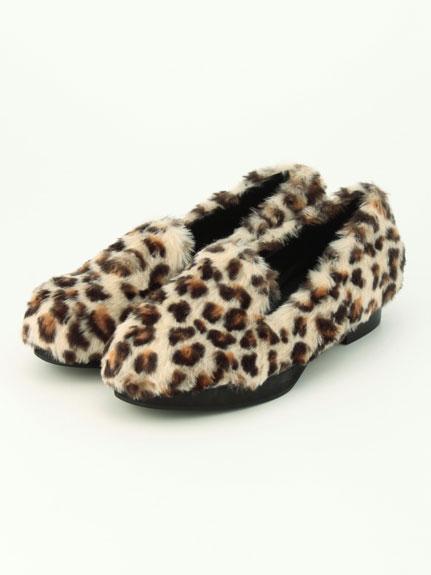 毛皮平底鞋