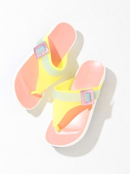 閃耀撞色涼鞋