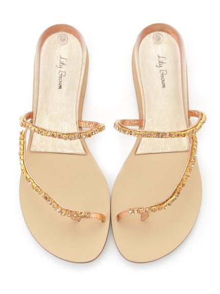 簡約鑽石造型涼鞋