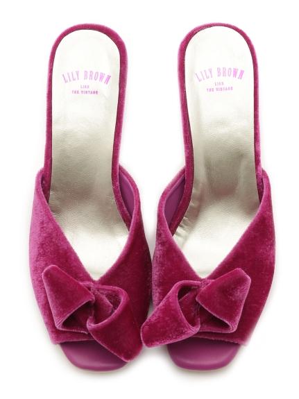 甜美蝴蝶結魚口涼鞋