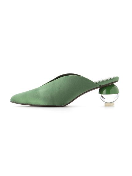 球形鞋跟緞面涼鞋