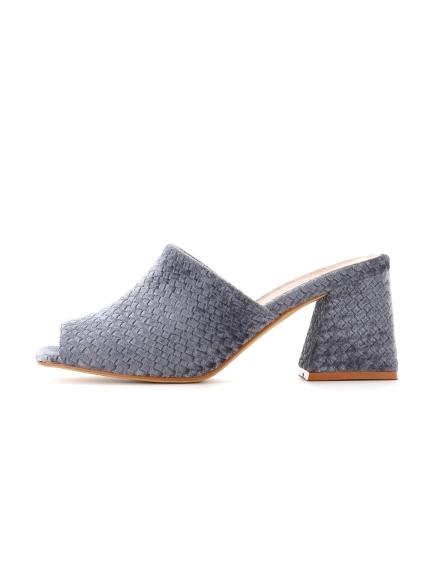 魚口編織高跟涼鞋