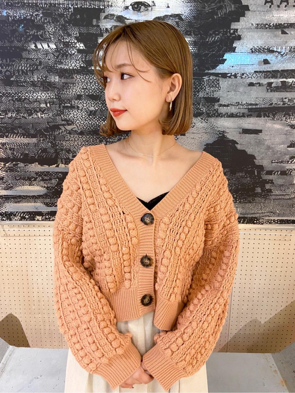 爆米花編織開襟衫