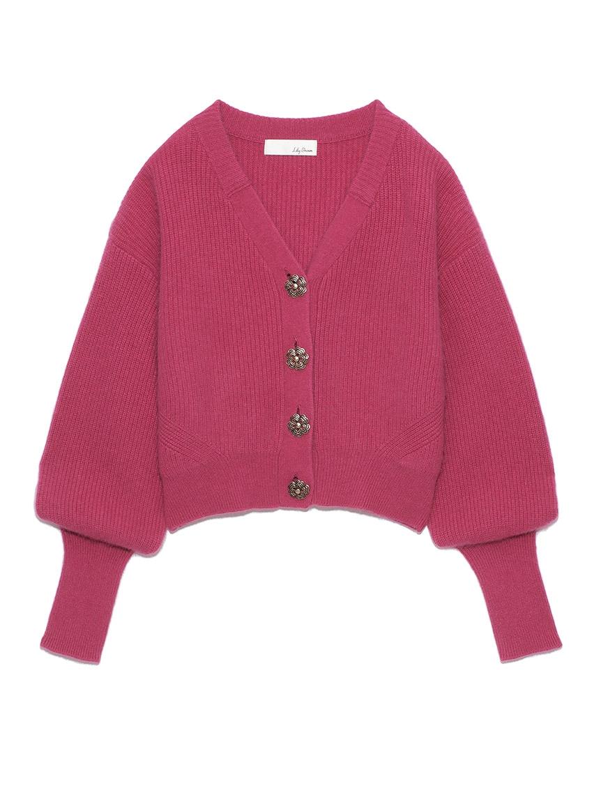 絨毛混紡針織外套
