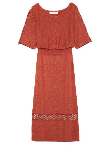 金蔥簍空針織連身裙