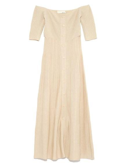 高雅羅紋長版連身裙