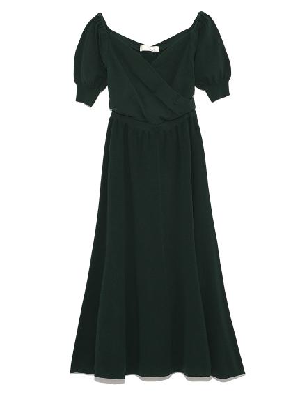 蓬袖針織連身裙