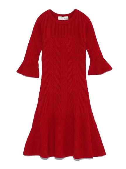 立體編織針織洋裝