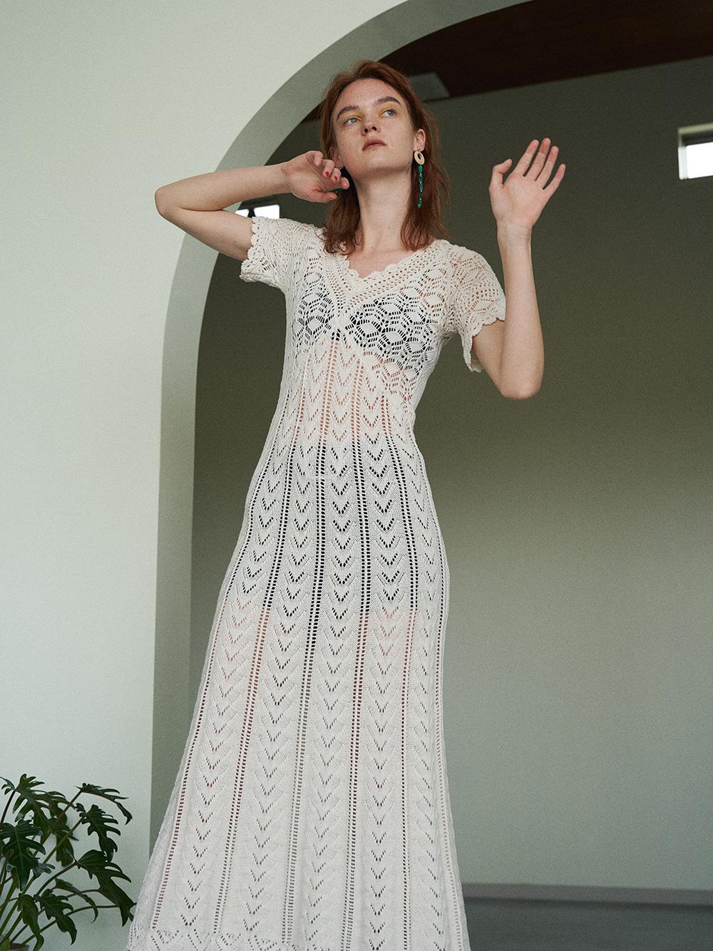 鉤針編織連身裙