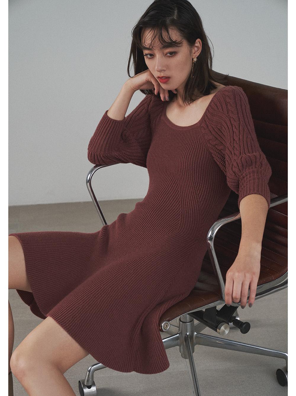 變化針織短版連身裙
