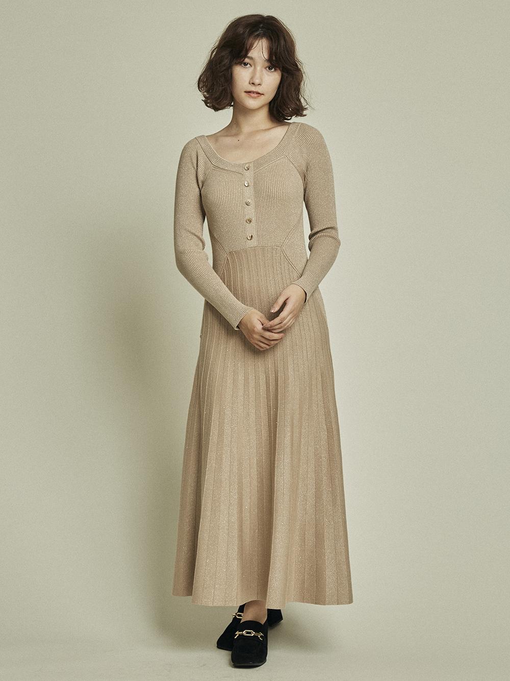 亮蔥針織連身裙