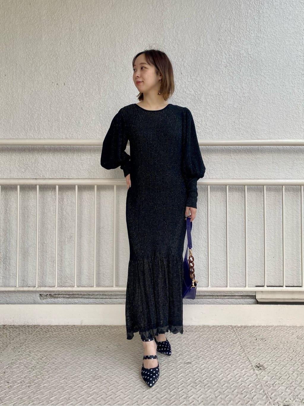 亮蔥針織魚尾連身裙