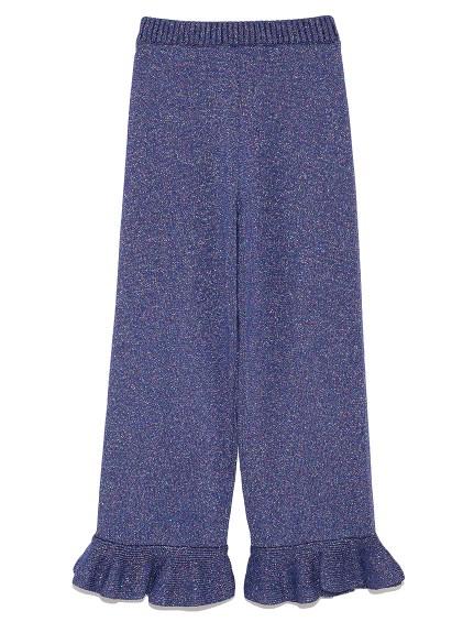 荷葉金蔥針織長褲