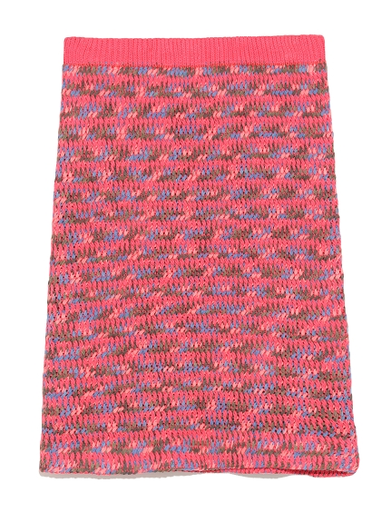彩色針織裙