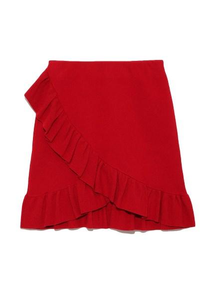 荷葉花邊剪裁短裙