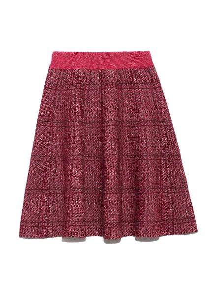 千鳥格針織短裙