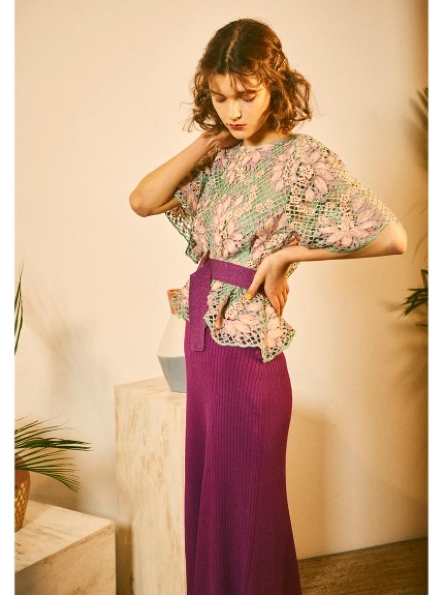 羅紋針織長裙