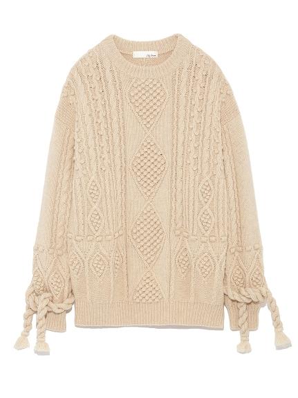 麻花編織造型上衣