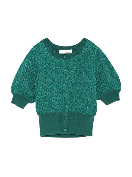 甜美蓬袖針織衫