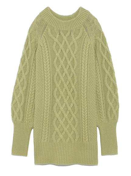麻花編織寬版毛衣