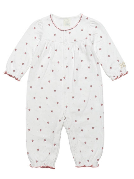 草莓印花baby連身衣