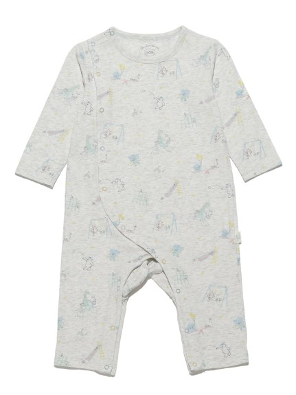小動物主題印花baby連身衣