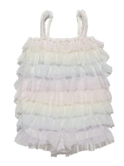 彩虹蕾絲層次baby連身衣