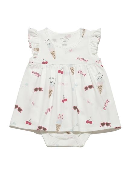 girls' favorite印花造型baby連身衣