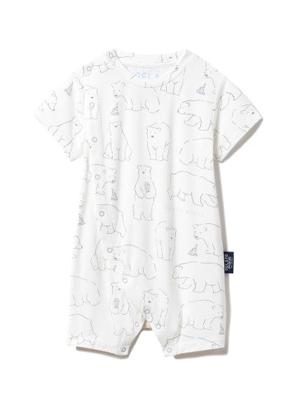 【BABY】北極熊主題baby連身褲