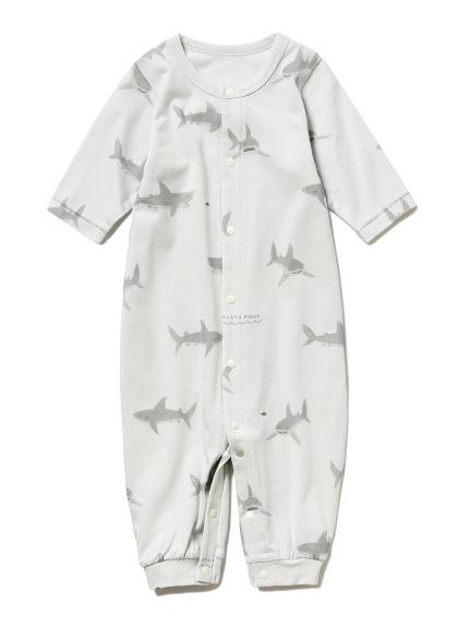 【嬰兒】鯊魚圖案2way連身衣